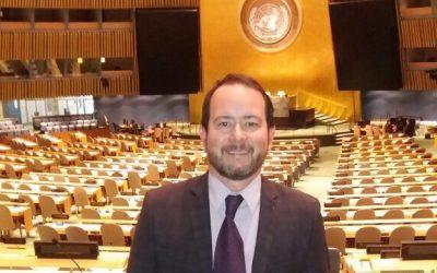 Sergio Botinha visita os escritórios da ONU em Nova York